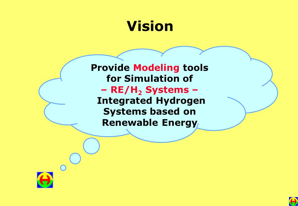Vision Provide Modeling tools for Simulation of – RE/H 2 Systems – Integrated Hydrogen Systems based on Renewable Energy