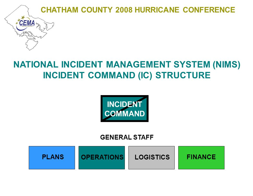 CHATHAM COUNTY 2008 HURRICANE CONFERENCE MUNICIPAL DEPARTMENTS AND AGENCIES CONTRACTORS VENDORS EXISTING MUTUAL AID AGREEMENTS AGENCY OR MUNICIPAL IC LOGISTICS LOGISTICAL SUPPORT TO MULTIPLE AGENCY – SINGLE JURISDICTION EVENTS