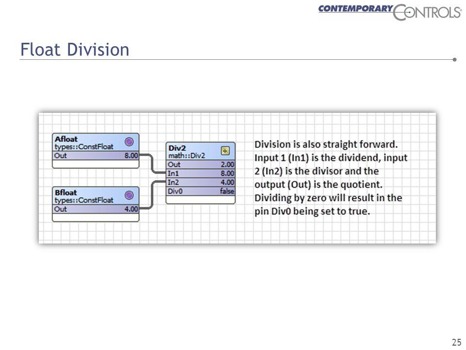 Float Division 25