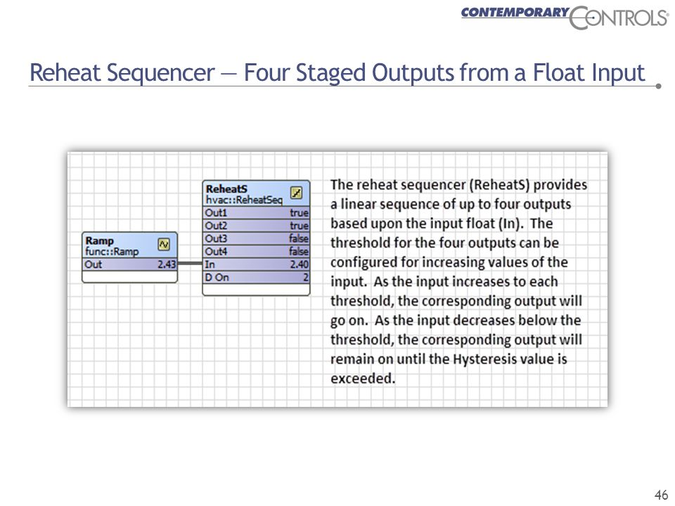 Reheat Sequencer — Four Staged Outputs from a Float Input 46