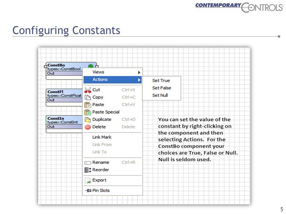 Configuring Constants 5