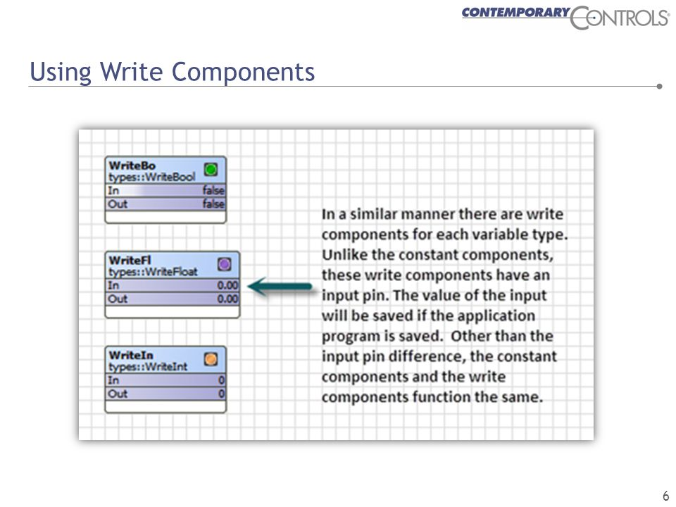 Converting Between Component Types 7