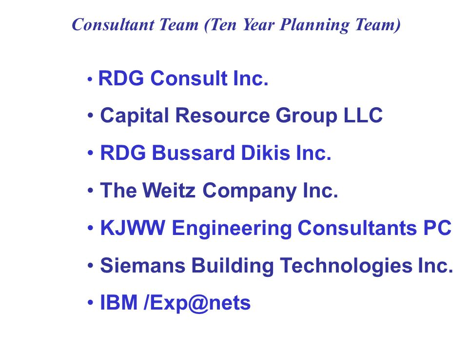 RDG Consult Inc.Capital Resource Group LLC RDG Bussard Dikis Inc.