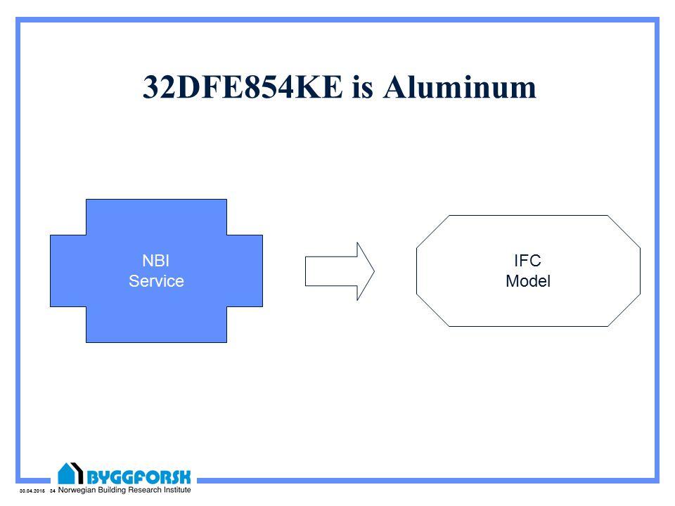 30.04.2015 34 32DFE854KE is Aluminum NBI Service IFC Model