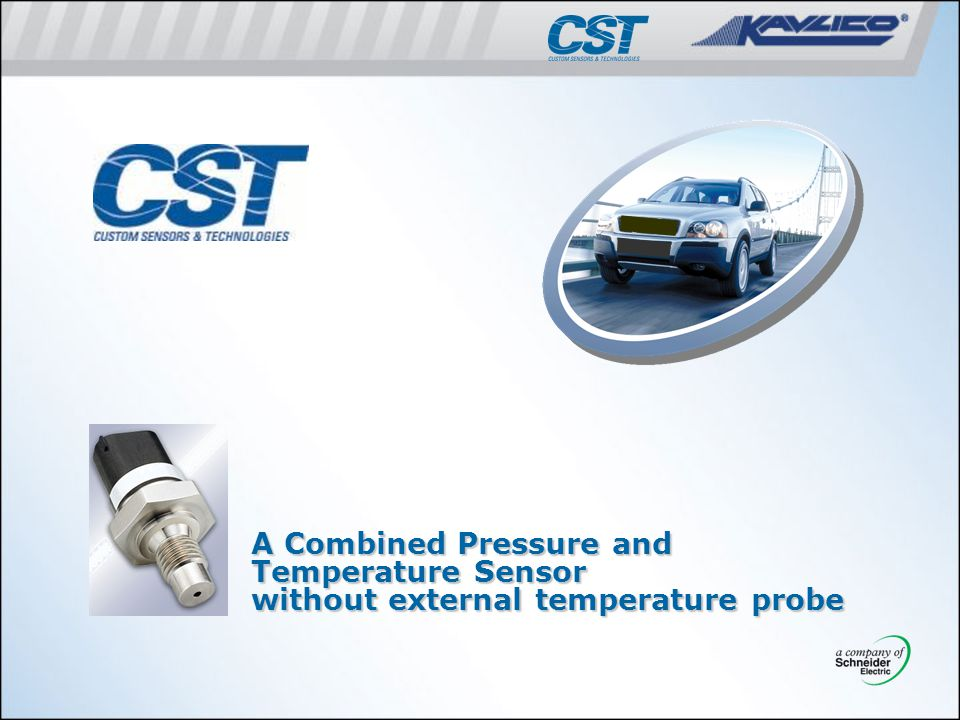 A Combined Pressure and Temperature Sensor without external temperature probe