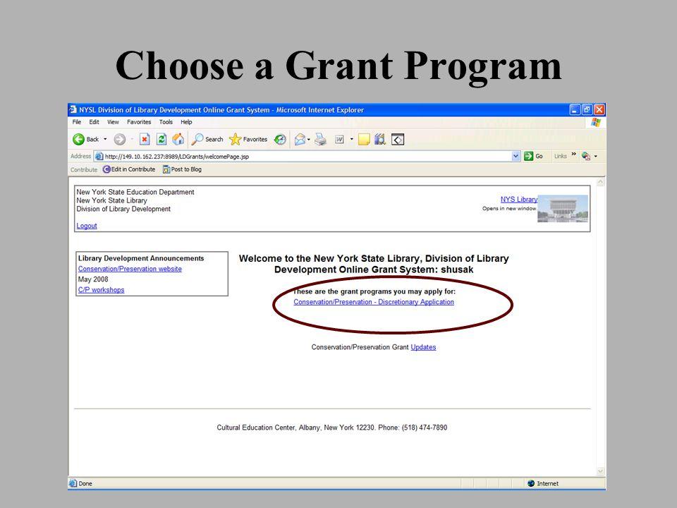 Choose a Grant Program