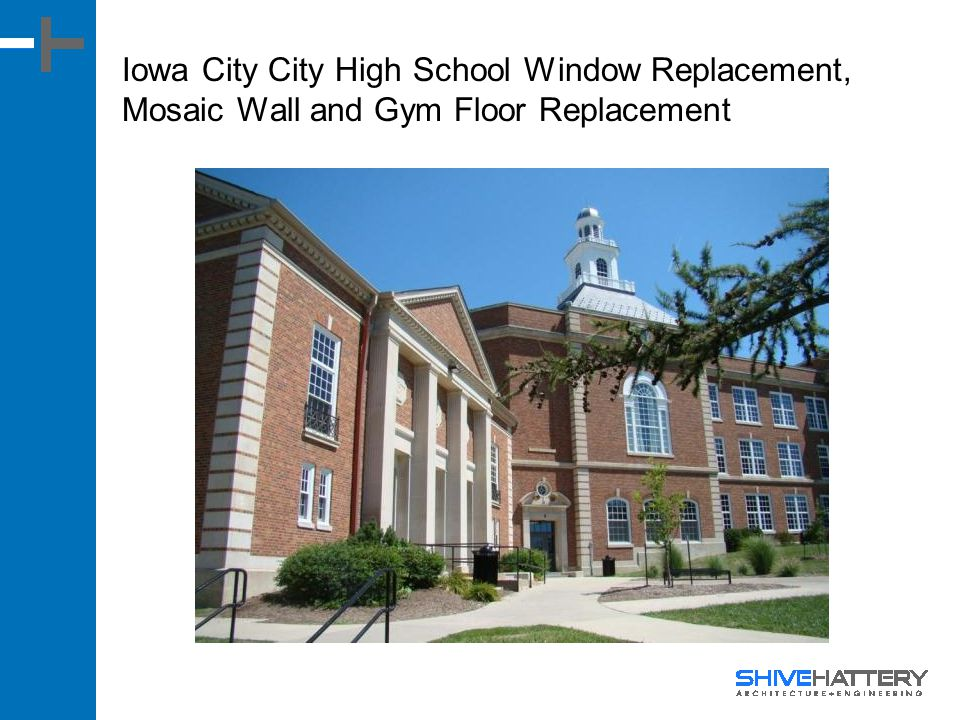 Iowa City City High School Window Replacement, Mosaic Wall and Gym Floor Replacement