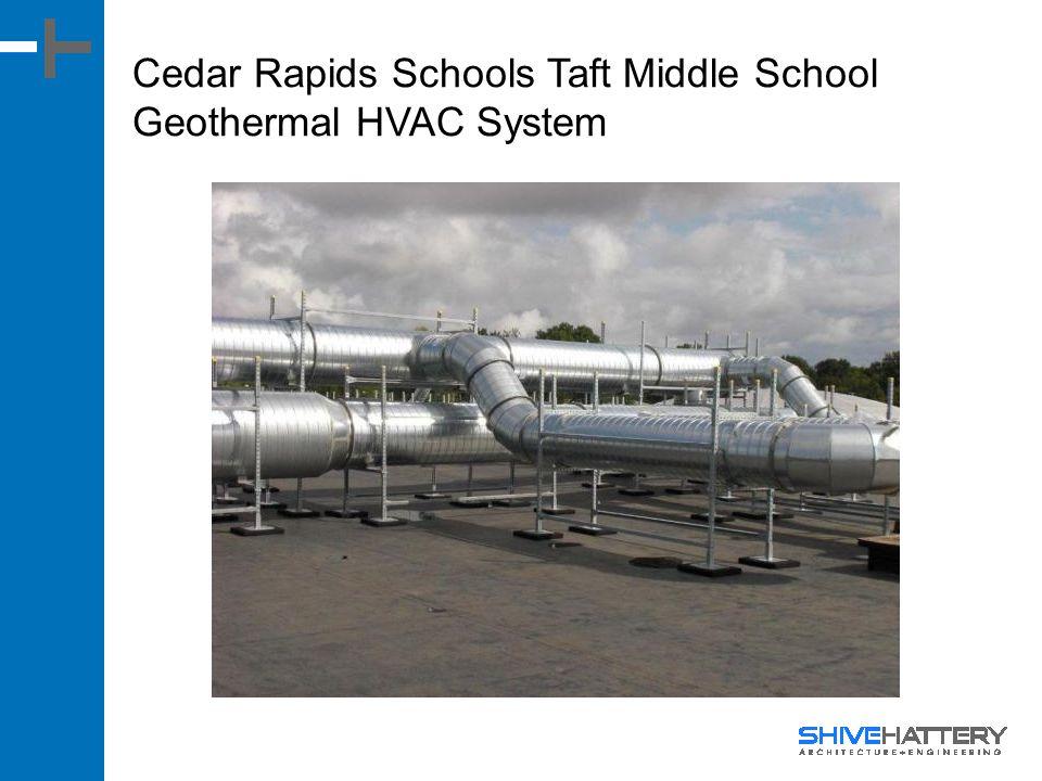 Cedar Rapids Schools Taft Middle School Geothermal HVAC System