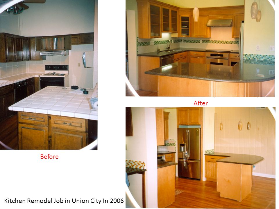 Kitchen Remodel Job in Union City In 2006 Before After