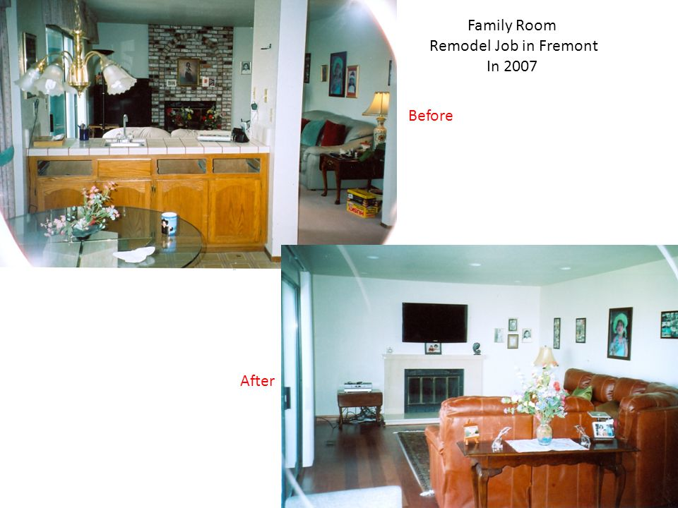 Kitchen Remodel Job in Cupertino In 2006 Before After