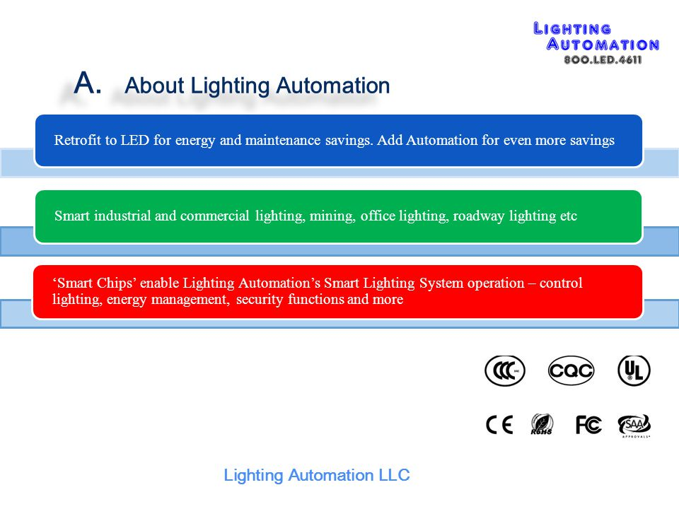 Lighting Automation LLC F. Smart Lighting Features ( 5 ) Multiple Sensors Collaborative Control
