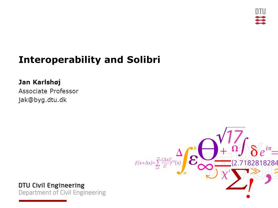 09/11/2009Course 110332DTU Civil Engineering, Technical University of Denmark Agenda 13:00 – 13:30Exercise FV 13:30 – 14:00Interoperability 14:00 - 14:15Break 14:15 – 15:00Solibri 15:00 - Exercise JK Lecture, 16 November –Rambøll –Solibri Rule Manager