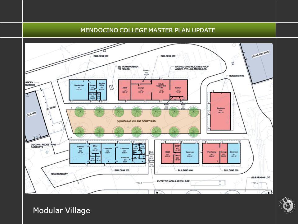 MENDOCINO COLLEGE MASTER PLAN UPDATE Modular Village