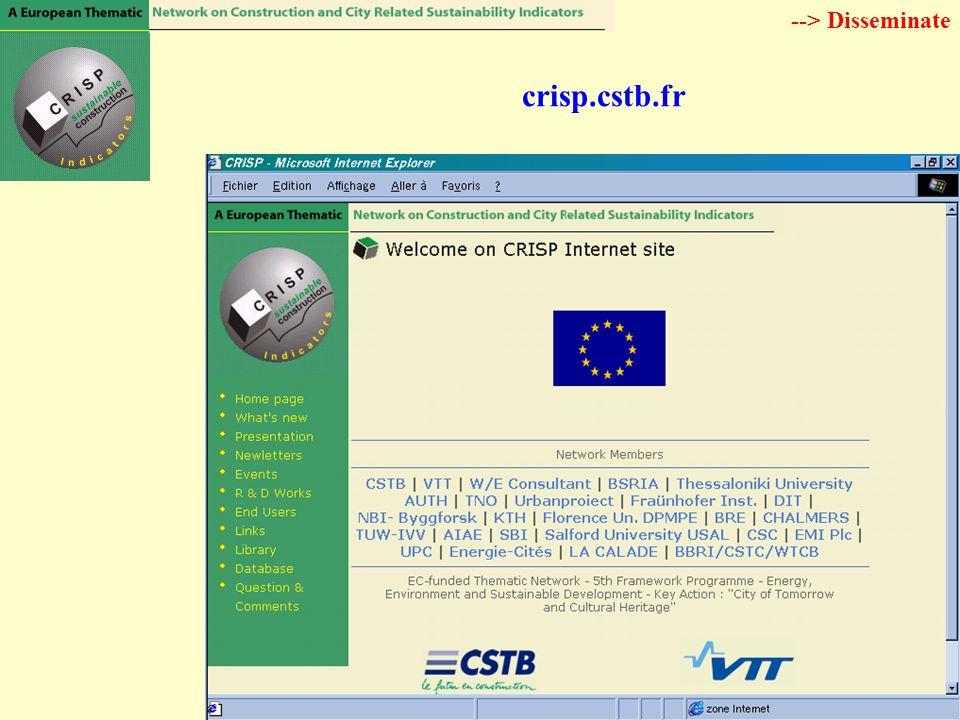 crisp.cstb.fr --> Disseminate