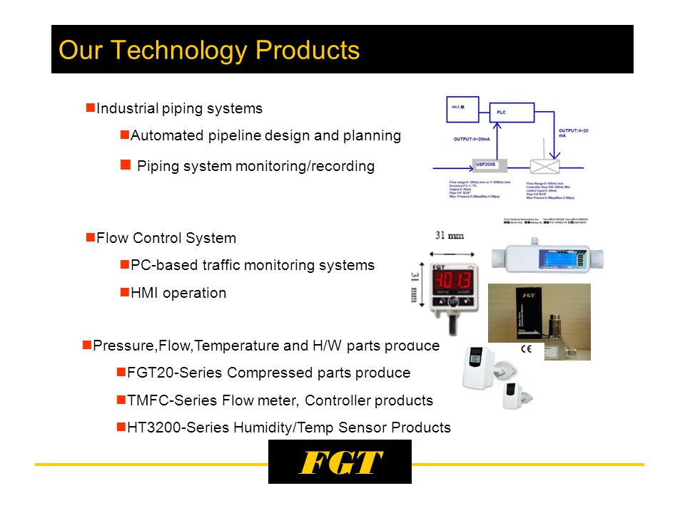 FGT Our Technology Products Power distribution Panel/Gas Cabinet Panel High and Low voltage distribution panel ( VCB-ACB- MCB-MCCB-MC) Gas Cabinet Panel (Tank pipe-Filter-Valve- MFC&MFM-Display-Controller) PLC+HMI Design and Plan PLC System Plan &Design Touch Screen (HMI) Plan& Design Control Panel Industrial machinery and Auto Controller panel Main business focus on normal Control Panel, include Power, Operator, Clean monitor Panel.