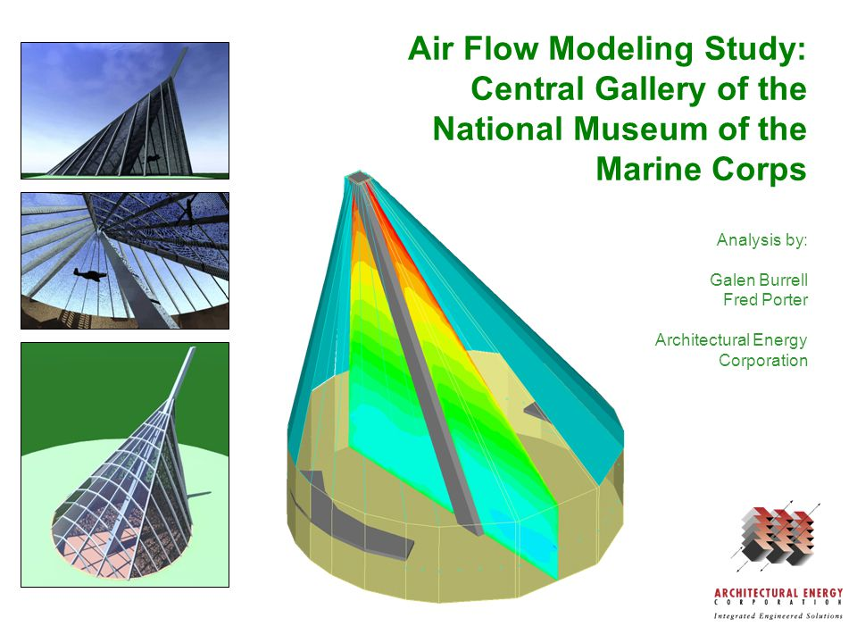 Background Standard HVAC sizing and modeling based on mixed air in space (uniform temperature) If space is stratified, these methods overpredict air flow needs CFD provides more accurate design information (350,000 nodes instead of one!)