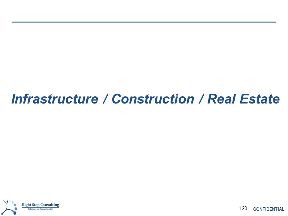 CONFIDENTIAL 123 Infrastructure / Construction / Real Estate