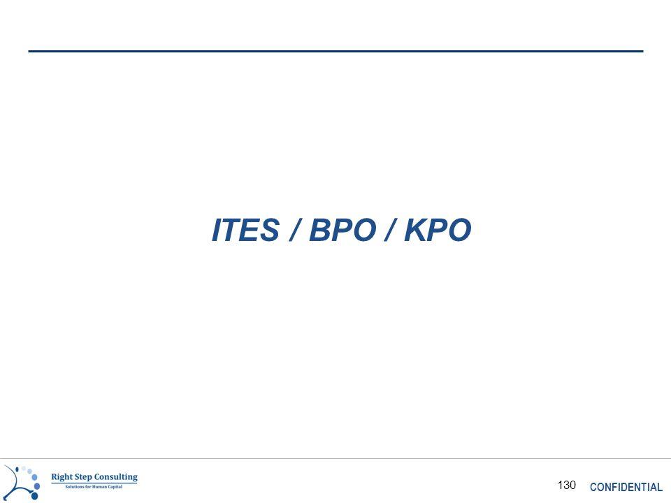 CONFIDENTIAL 130 ITES / BPO / KPO