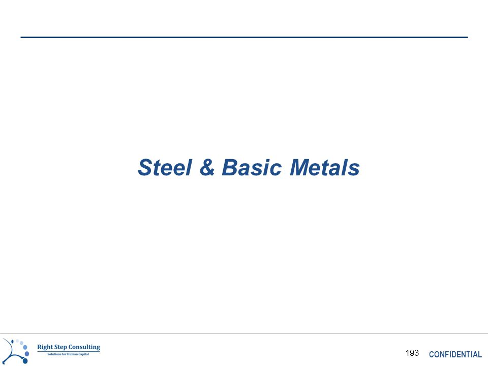 CONFIDENTIAL 193 Steel & Basic Metals