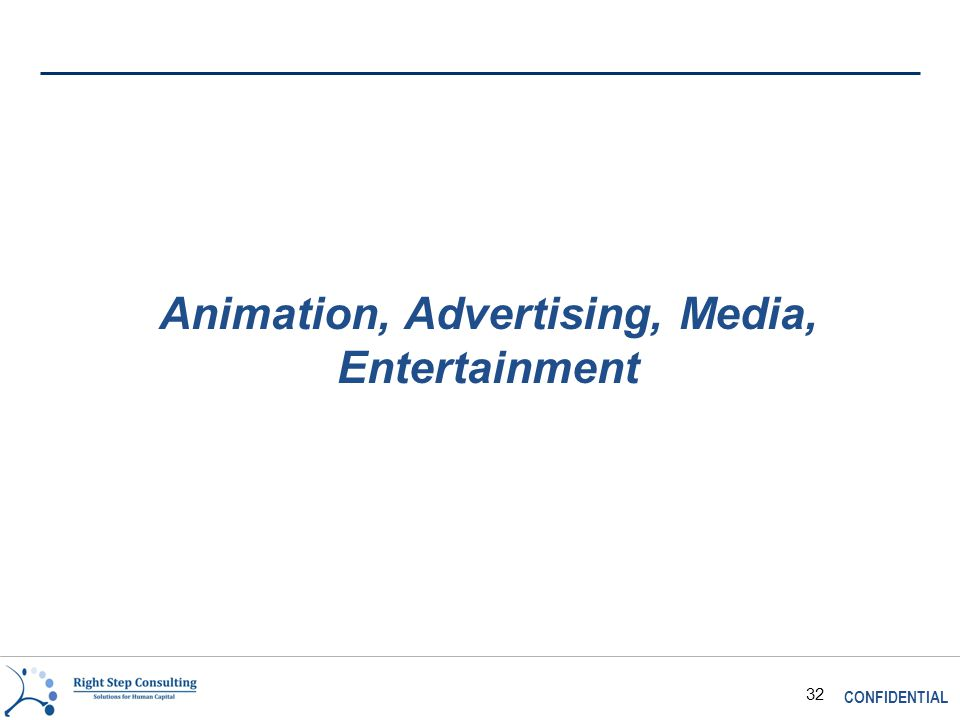 CONFIDENTIAL 32 Animation, Advertising, Media, Entertainment