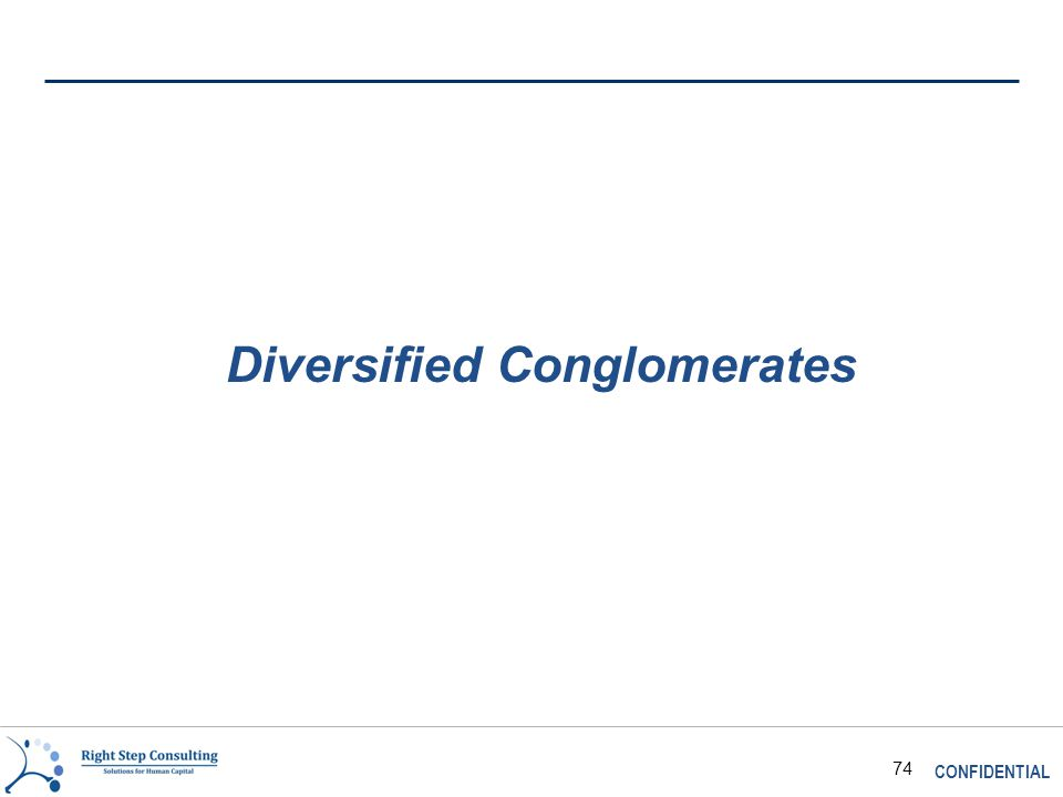 CONFIDENTIAL 74 Diversified Conglomerates