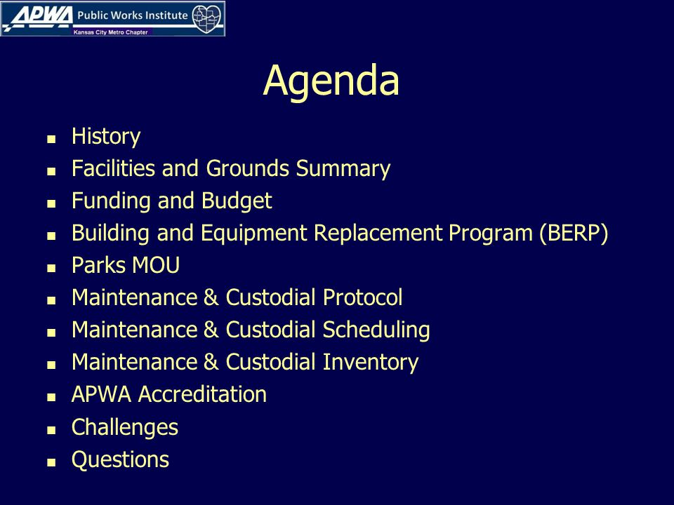 Funding and Budget Facility Services $330K In house staff provides routine maintenance and repair of HVAC systems, electrical systems, carpentry projects utilizing on line work order system.