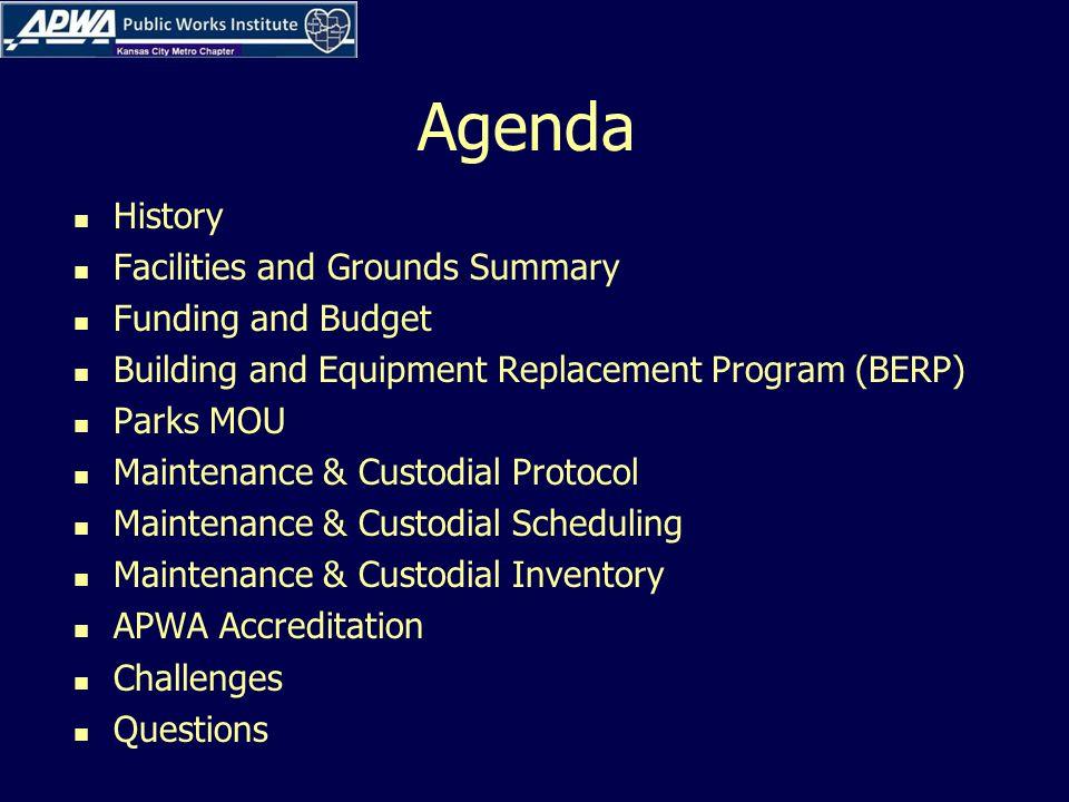 Maintenance & Custodial Inventory APWA Best Practice