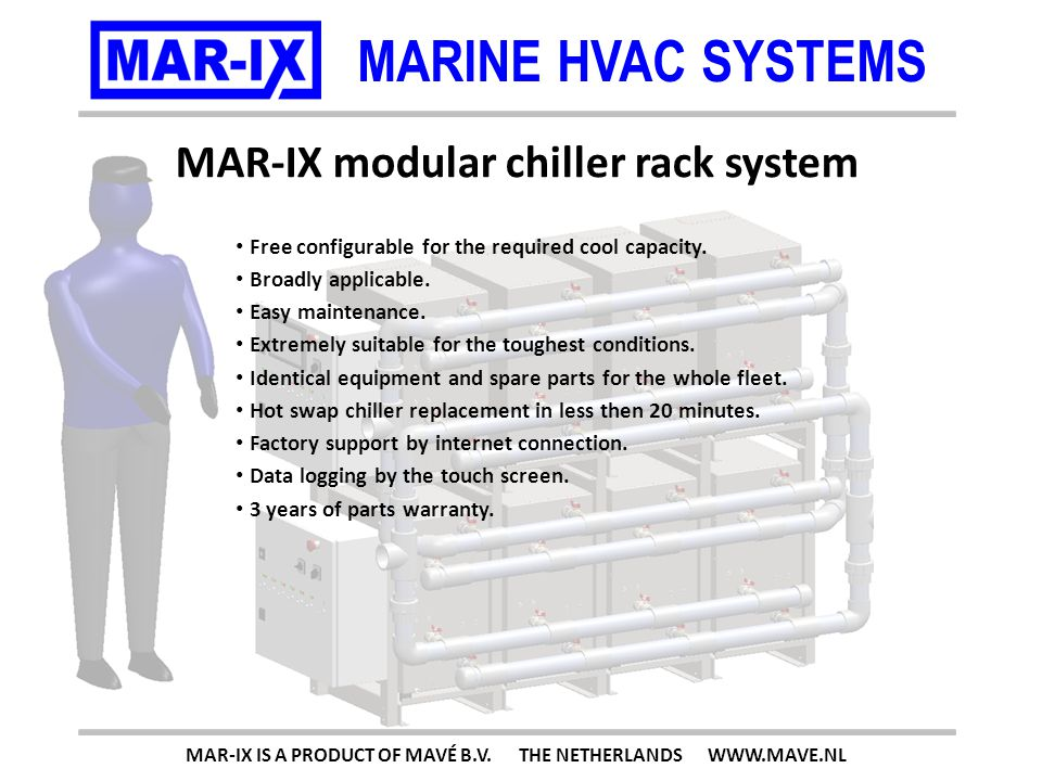 MARINE HVAC SYSTEMS 200kW (682.400Btu) MAR-IX IS A PRODUCT OF MAVÉ B.V. THE NETHERLANDS WWW.MAVE.NL