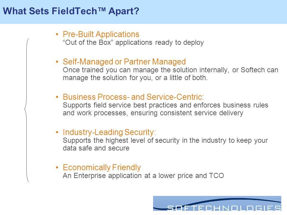 What Sets FieldTech™ Apart.