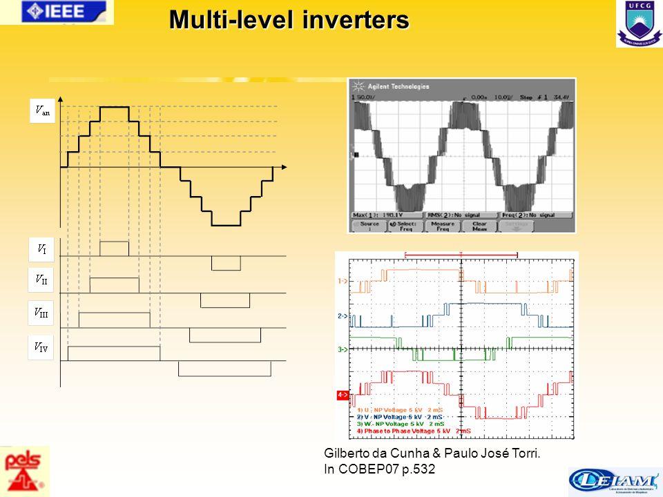 59/63 Multi-level inverters Gilberto da Cunha & Paulo José Torri. In COBEP07 p.532