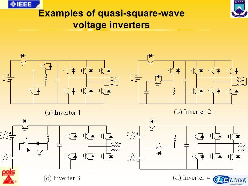 65/63 Examples of quasi-square-wave voltage inverters