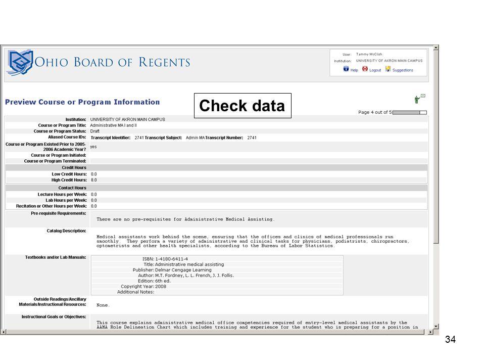 34 Check data