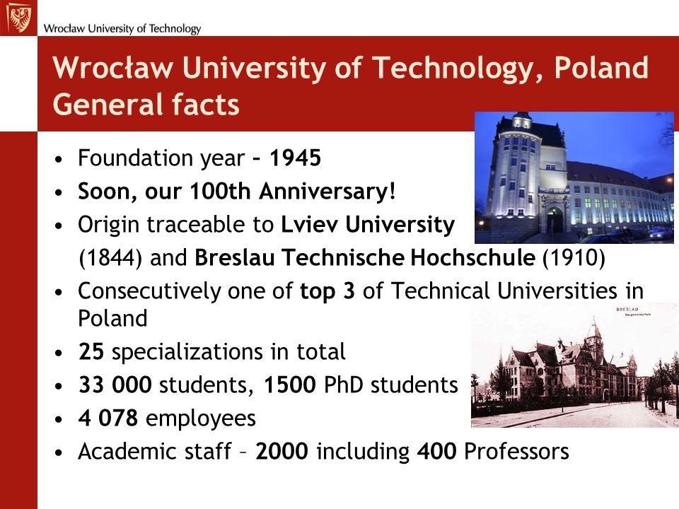 Wrocław University of Technology - Infrastructure