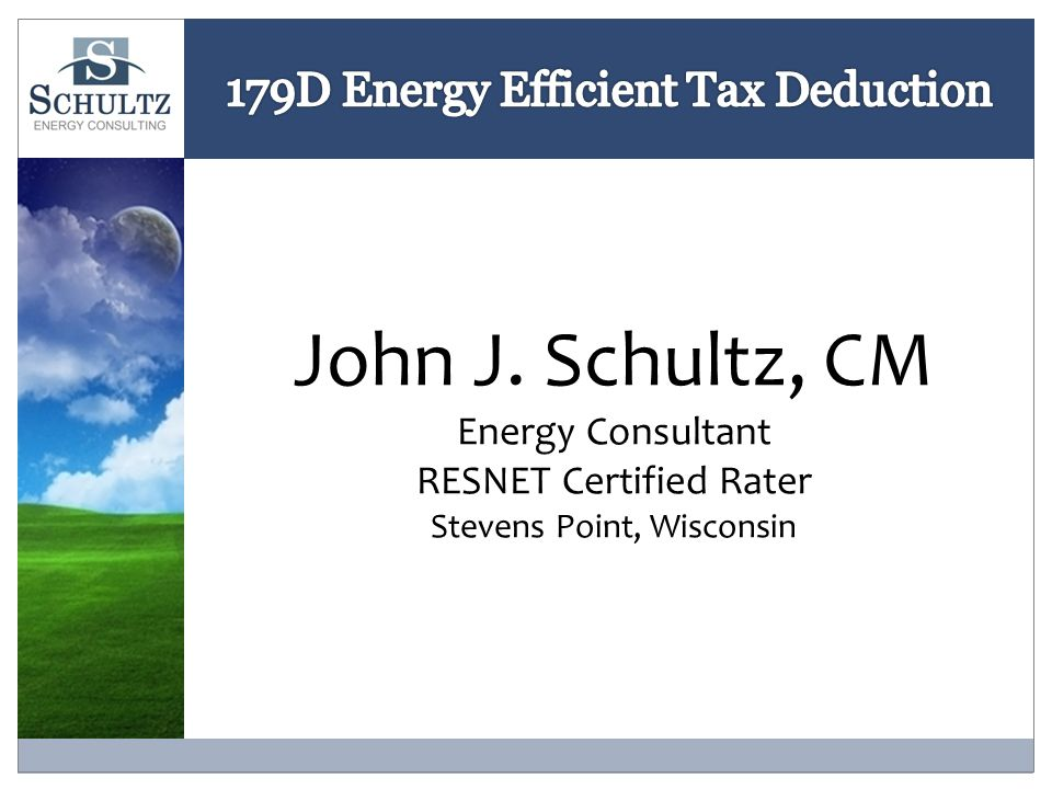 Energy Policy Act of 2005 IRC Section 179D Commercial Buildings