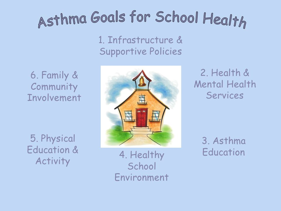1. Infrastructure & Supportive Policies 4. Healthy School Environment 2.