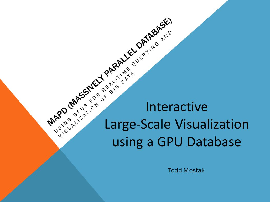 Interactive Large-Scale Visualization using a GPU Database