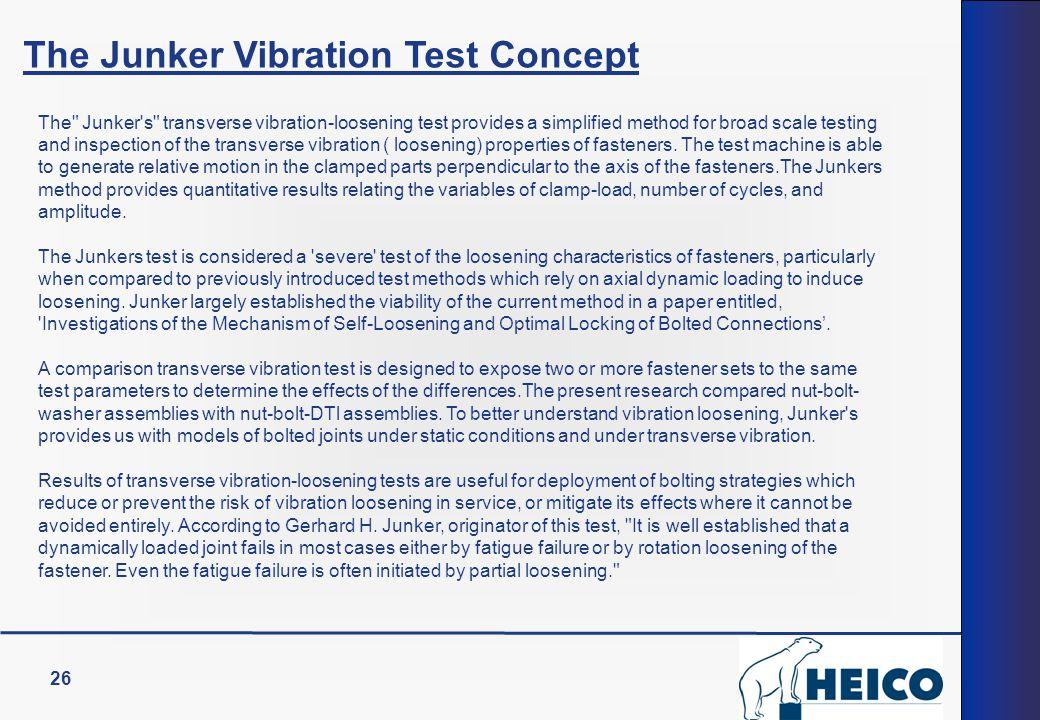 26 The Junker Vibration Test Concept The