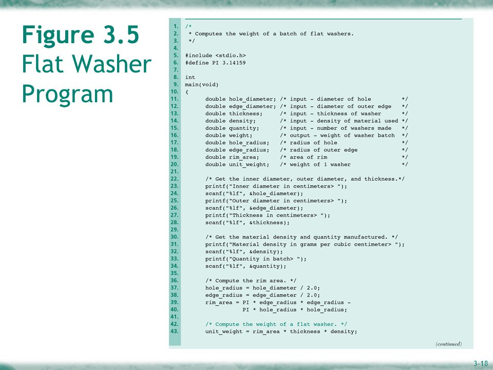 3-18 Figure 3.5 Flat Washer Program