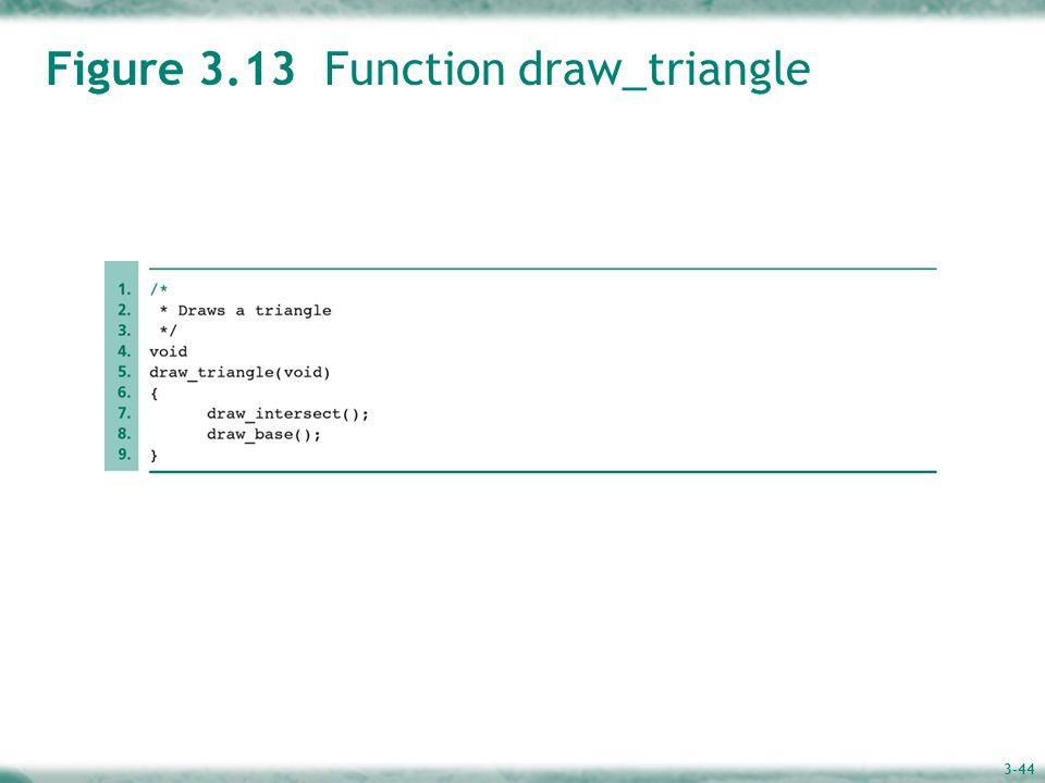 3-44 Figure 3.13 Function draw_triangle