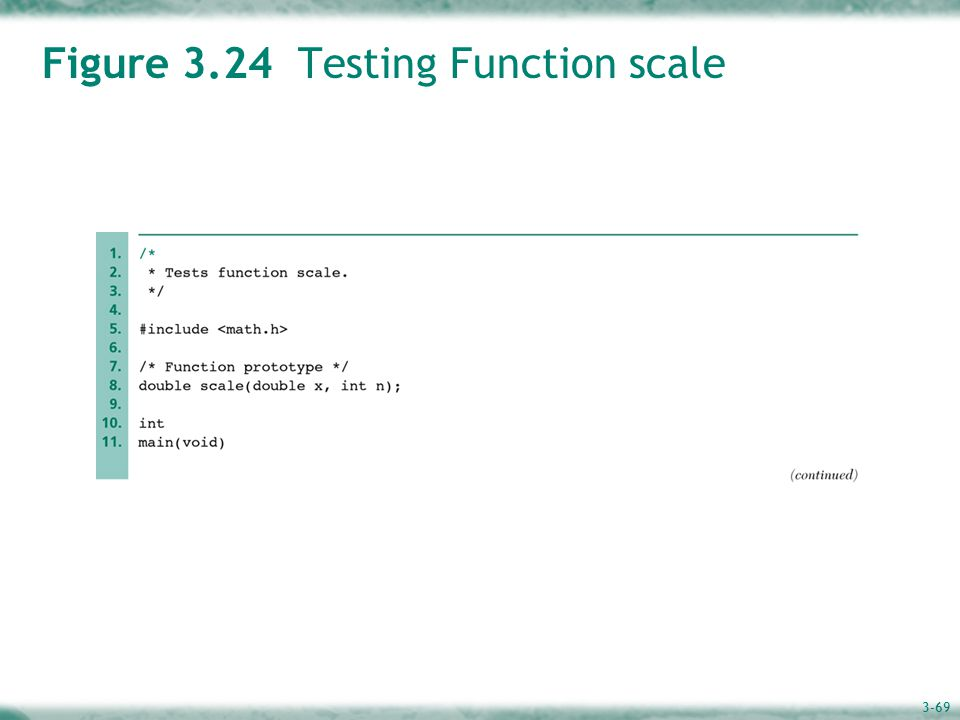 3-69 Figure 3.24 Testing Function scale