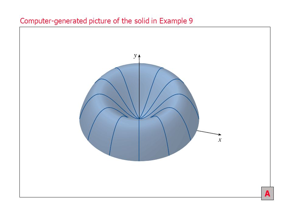 Section 1 / Figure 1 Computer-generated picture of the solid in Example 9 A