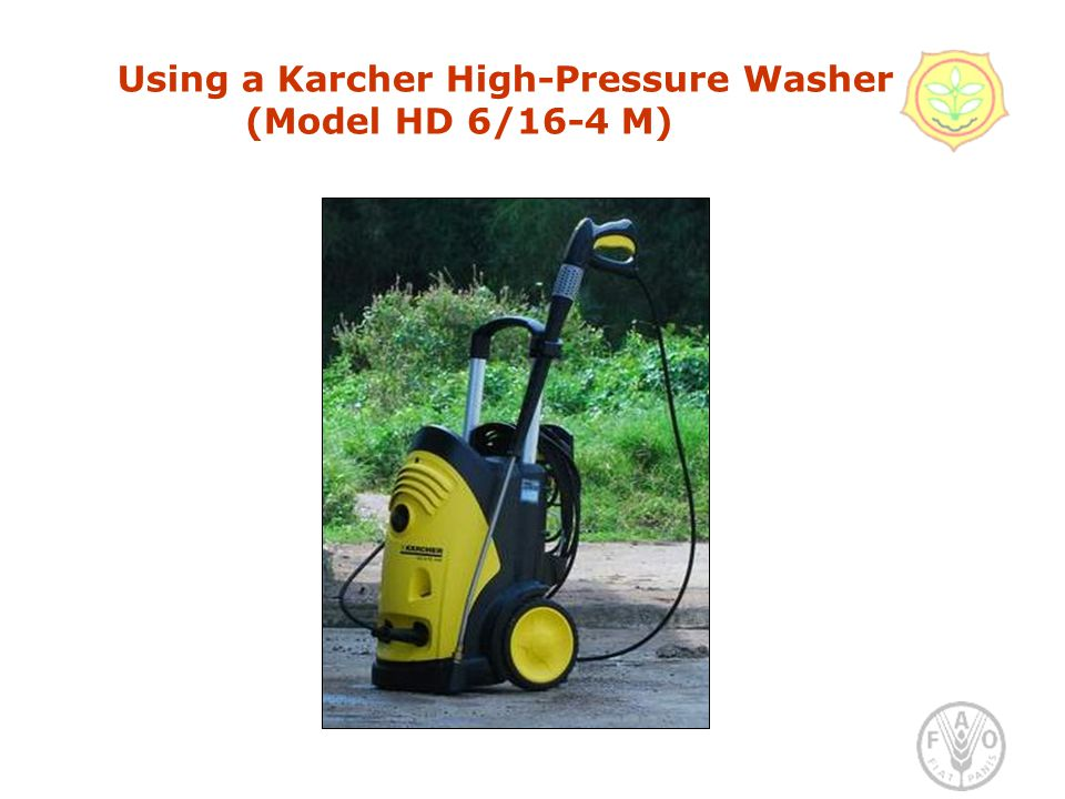 Using a Karcher High-Pressure Washer (Model HD 6/16-4 M)