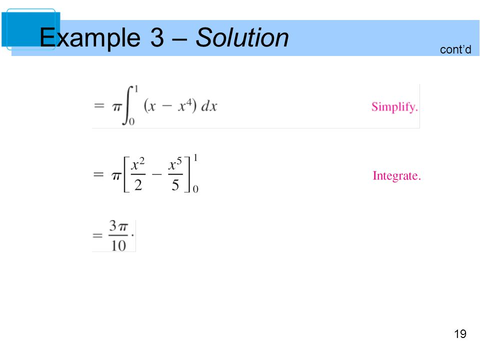 19 Example 3 – Solution cont'd