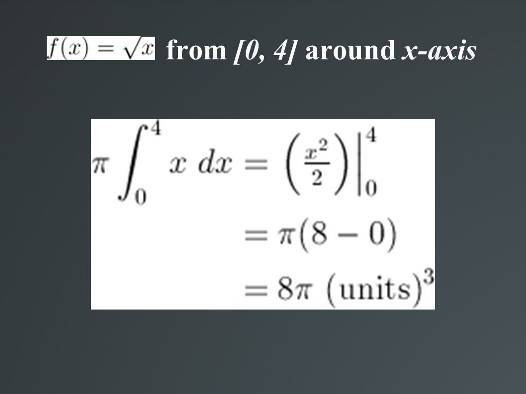 from [0, 4] around x-axis