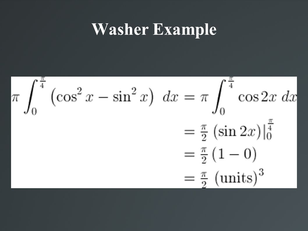 Washer Example