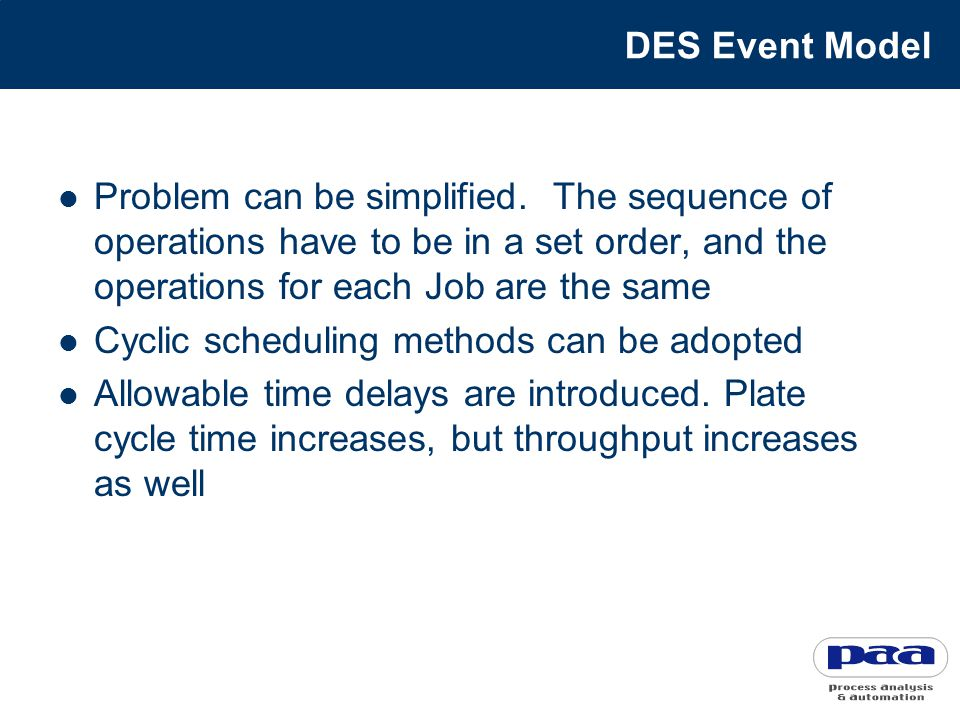 DES Event Model Problem can be simplified.