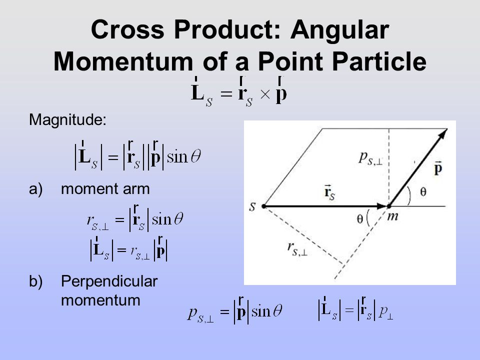 Torque and Angular Momentum about S Torque about S : Recall: Angular acceleration and angular velocity Angular momentum about S : Summary: