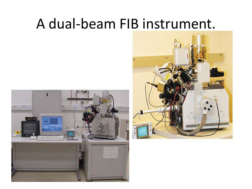 A dual-beam FIB instrument.