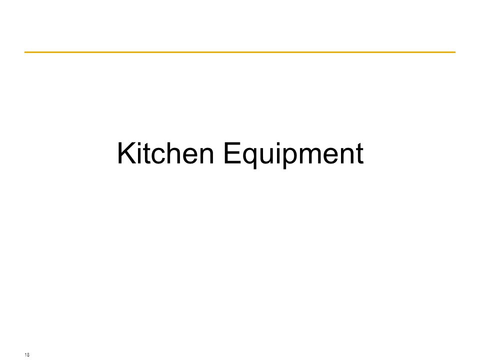 Kitchen Equipment 18