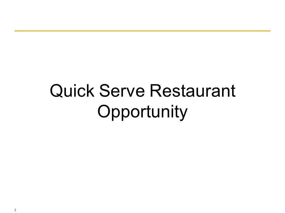 © Franke, www.franke.com Quick Serve Restaurant Opportunity 2